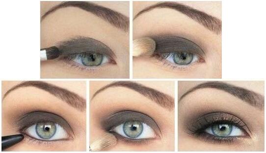 Подчеркиваем серо-зеленые глаза
