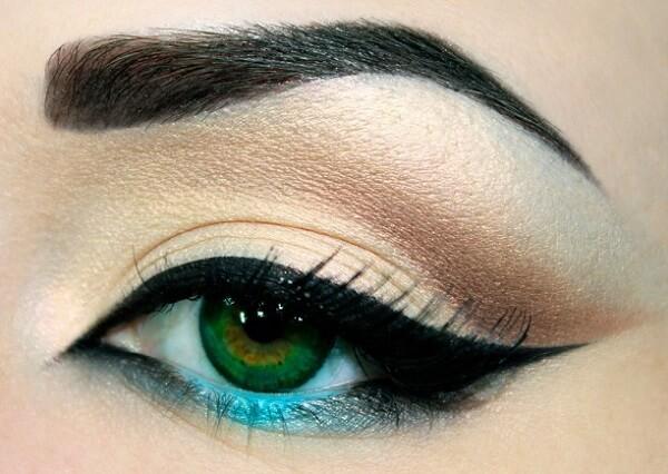 Подводка для зеленых глаз