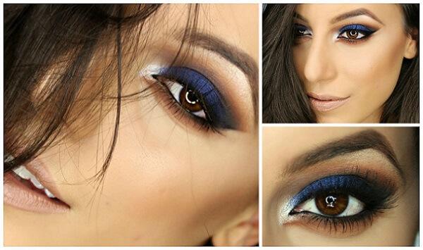 Синий оттенок Smoky Eyes