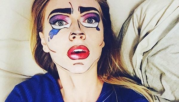 Адаптированный поп-арт макияж