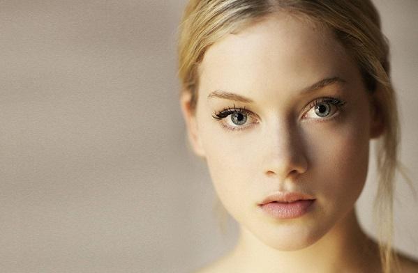 Естественный макияж для светлых волос