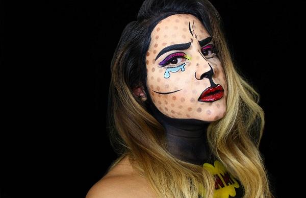 Классический поп-арт макияж