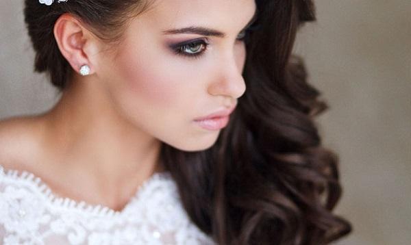 макияж невесты для зеленых глаз