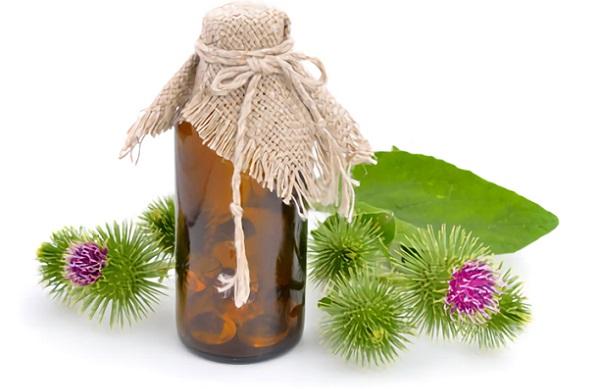 Из репейного масла можно готовить маски как для волос, так и для кожи лица