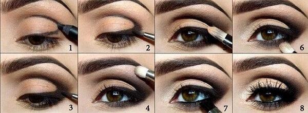 Как накрасить карие глаза
