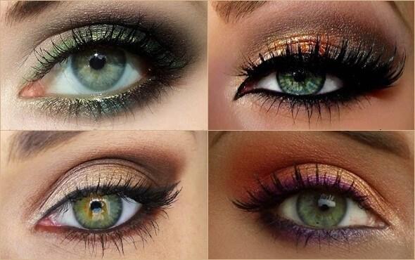 Оттенки макияжа для зеленых глаз