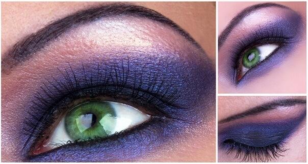 Синий оттенок в макияже