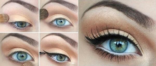 Стрелки для зеленых глаз
