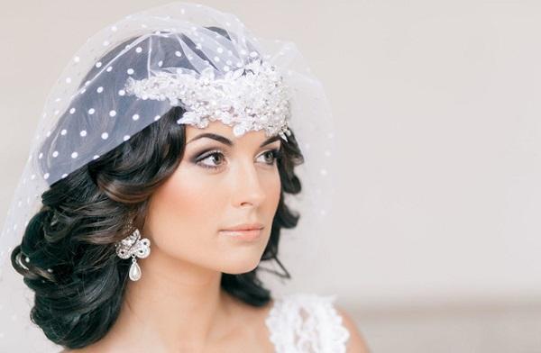 Свадебный макияж брюнетки
