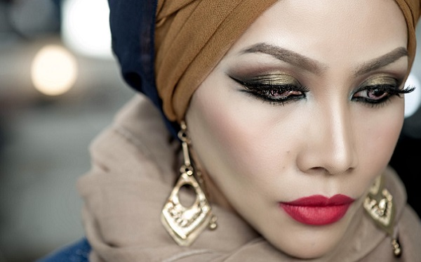 Вариант арабского макияжа