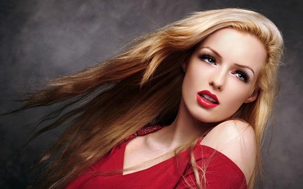 Вечерний макияж к красному платью