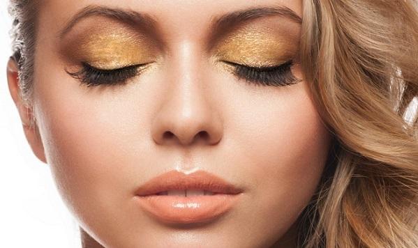 Золотые тени в макияже