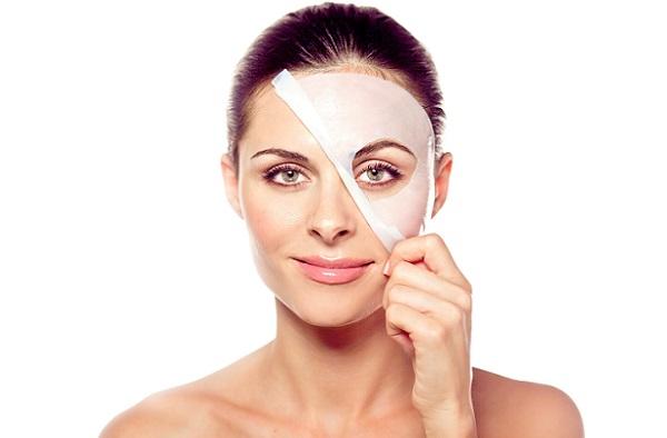Улучшение состояния кожи лица можно заметить уже после первого применения тканевой маски
